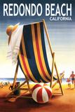 Redondo Beach, California - Beach Chair and Ball Posters by  Lantern Press