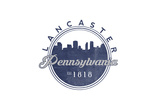 Lancaster, Pennsylvania - Skyline Seal (Blue) Posters by  Lantern Press