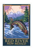 Red River, New Mexico - Fly Fishing Scene Posters by  Lantern Press
