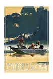 Minnesota - Fishermen in Boat Prints by  Lantern Press