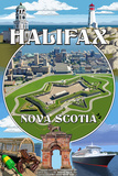 Halifax, Nova Scotia - Montage Posters by  Lantern Press
