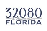 St. Augustine, Florida - 32080 Zip Code (Blue) Posters by  Lantern Press