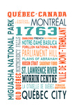 Quebec, Canada - Typography Prints by  Lantern Press