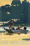 New Hampshire - Fishermen in Boat Prints by  Lantern Press