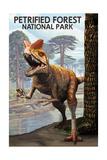Petrified Forest National Park, Arizona - Rainbow Forest Triassic Scene Prints by  Lantern Press