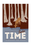 Solo Time (Deer) - Discover the Parks Print by  Lantern Press
