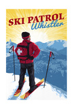 Whistler, Canada - Vintage Ski Patrol Art by  Lantern Press