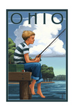 Ohio - Boy Fishing Posters by  Lantern Press