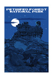 Petrified Forest National Park, Arizona - Night Sky Prints by  Lantern Press