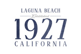 Laguna Beach, California - Established Date (Blue) Print by  Lantern Press