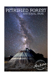 Petrified Forest National Park, Arizona - Painted Desert Night Sky Prints by  Lantern Press