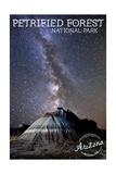 Petrified Forest National Park, Arizona - Painted Desert Night Sky Prints by  Lantern Press