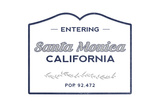 Santa Monica, California - Now Entering (Blue) Prints by  Lantern Press