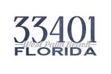 West Palm Beach, Florida - 33401 Zip Code (Blue) Poster by  Lantern Press