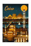 Cairo, Egypt - Retro Skyline Posters by  Lantern Press