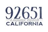 Laguna Beach, California - 92651 Zip Code (Blue) Prints by  Lantern Press