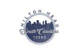 Hilton Head, South Carolina - Skyline Seal (Blue) Prints by  Lantern Press