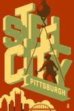 Pittsburgh, Pennsylvania - Steel City Prints by  Lantern Press