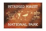 Petrified Forest National Park, Arizona - Petroglyphs Posters by  Lantern Press