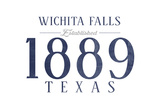 Wichita Falls, Texas - Established Date (Blue) Posters by  Lantern Press