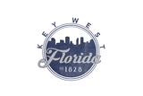 Key West, Florida - Skyline Seal (Blue) Prints by  Lantern Press