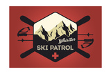 Whistler, Canada - Ski Patrol Badge - Vector Style Posters by  Lantern Press