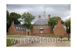 Williamsburg, Virginia - Governors Palace and Gray Sky Poster by  Lantern Press