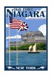 Old Fort Niagara, New York - Day Scene Prints by  Lantern Press