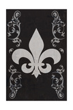 Flourish and Fleur de Lis - Black Print by  Lantern Press