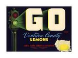 Go Brand - Oxnard, California - Citrus Crate Label Posters by  Lantern Press