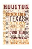 Houston, Texas - Typography Poster by  Lantern Press