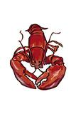 Lobster - Icon Premium Giclée-tryk af  Lantern Press