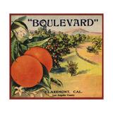 Boulevard Brand - Claremont, California - Citrus Crate Label Prints by  Lantern Press