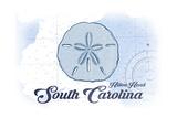 Hilton Head, South Carolina - Sand Dollar - Blue - Coastal Icon Art by  Lantern Press