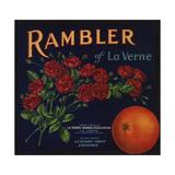 Rambler Brand - La Verne, California - Citrus Crate Label Posters by  Lantern Press