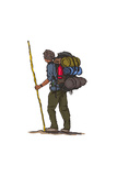 Hiker - Icon Prints by  Lantern Press