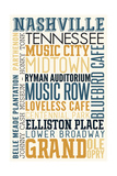 Nashville, Tennessee - Typography Posters by  Lantern Press