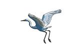 Crane - Icon Prints by  Lantern Press