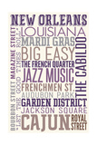 New Orleans, Louisiana - Typography Art by  Lantern Press