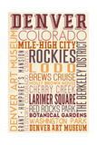 Denver, Colorado - Typography Prints by  Lantern Press