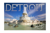 Detroit, Michigan - James Scott Memorial Fountain Poster by  Lantern Press