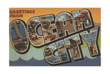 Greetings from Ocean City Prints by  Lantern Press