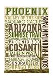 Phoenix, Arizona - Typography Prints by  Lantern Press