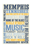 Memphis, Tennessee - Typography Prints by  Lantern Press