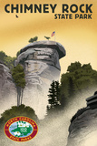 Chimney Rock State Park, North Carolina - Lithograph - 100th Anniversary Posters by  Lantern Press