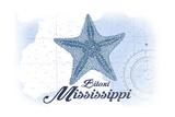 Biloxi, Mississippi - Starfish - Blue - Coastal Icon Posters by  Lantern Press