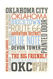 Oklahoma City, Oklahoma - Typography Posters by  Lantern Press