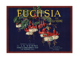 Fuchsia Brand - La Verne, California - Citrus Crate Label Prints by  Lantern Press