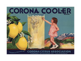 Corona Cooler Brand - Corona, California - Citrus Crate Label Prints by  Lantern Press