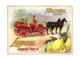 Festival Brand - Santa Barbara, California - Citrus Crate Label Posters by  Lantern Press